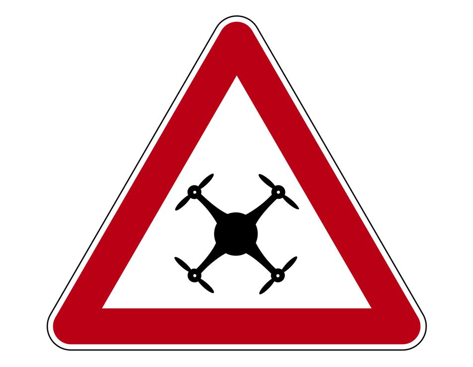 Achtung Drohne Schild